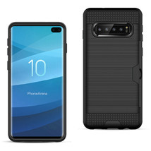 SAMSUNG GALAXY S10 Plus Slim Armor Hybrid Case With Card Holder - $8.50