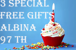 FREE THURSDAY! 3 SPECIAL FREE W $149 GIFTS ALBINA'S EARLY 97 BDAY MAGICK CASSIA4 - Freebie