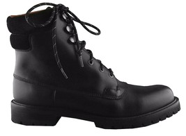 Hunter Mens Ross Black Genuine Leather Combat Ankle Lace Up Work Hiking Boots NW image 2