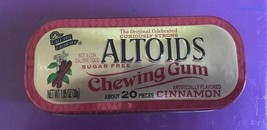 Empty Altoids Collectible Tin Cinnamon Sugar Free Chewing Gum Rare Disco... - $16.09