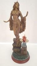 "Franklin Mint Bronze Statue Sculpture Figurine ""Queen Guinevere"" Limited... - $197.99"