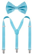 Man of Men - Bowtie & Suspenders Sets - Pastel Colors Light Blue