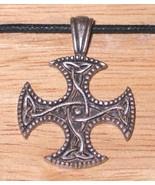 Vision Cross Celtic Harmonies Metal Pendant Necklace, NEW UNUSED - $7.84