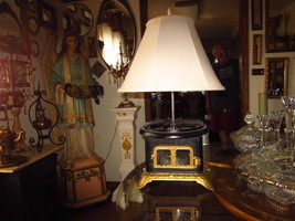 WHIMSICAL ANTIQUE STOVE LAMP - $89.95