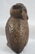 VIntage Fabbri Art Studio Co Brown Chalkware Owl  San Francisco USA image 3