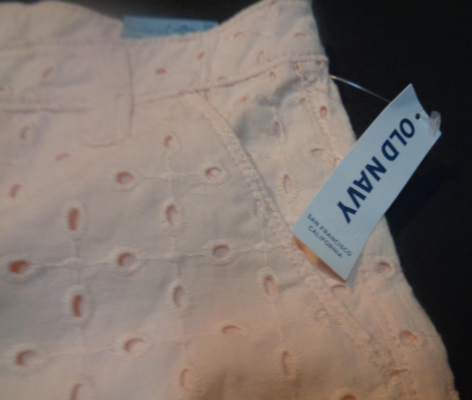 Old Navy Pink Eyelet Shorty Mini-Shorts SZ 14 Regular