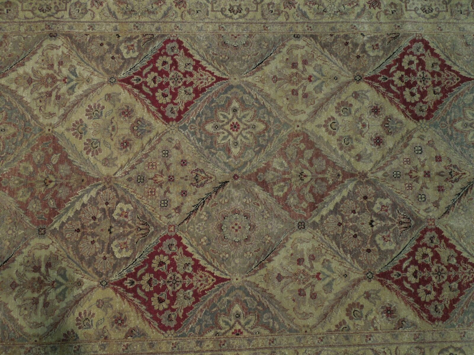 5x7 Multi-Color Oushak Wool Handmade Checked All-Over Transitional Area Rug image 6