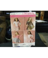 Simplicity 2356 Girl's Skirts, Slips & Accessories Pattern - Size 3/4/5/... - $5.04