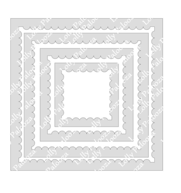 Scalloped Frames DIGITAL File.  Instant Download.  PNG & SVG Files. No Physical