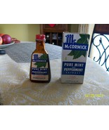 1#Q   Vintage McCormick Brand Pure Mint & Peppermint Extract Bottle Empty - $9.83