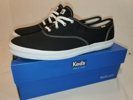 Keds Champion Canvas Ortholite Sneaker - Women's Size 9.5 M BLACK - $46.03 CAD