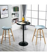 """24"""" Bistro Pub Table Round Bar Height Cocktail Table w/Metal Base and MD... - $134.63"""