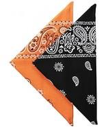 Levi's Men's Printed Bandana Set,Orange/Black,One Size - $17.89
