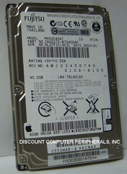40GB 2.5in IDE Drive Fujitsu MHS2040AT Tested Good Free USA Ship Our Drives Work