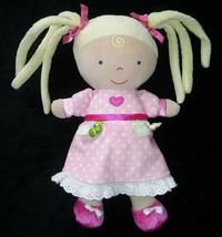 """10"""" Kids Preferred Plush Baby Girl Doll Toy Blonde Pink Dress Pig Tails ... - $13.08"""
