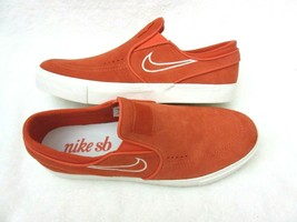 Nike Mens Zoom Stefan Janoski Slip On Skate Shoes Vintage Coral Orange S... - $59.39