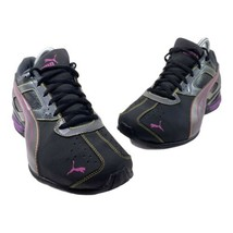 Puma Tazon 6 Women's Size 9.5 Black Purple Athletic Running Shoes 186906-01 - $29.66