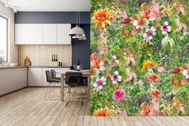 3D Orange Flower PKE055 Business Wallpaper Wall Mural Self-adhesive Comm... - $13.49+