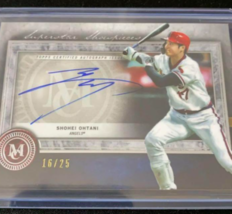 Shohei Ohtani 2020 TOPPS Museum Rare Limited to 25 autographed cards New - $495.98