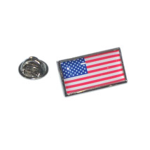 stars and stripes, usa flag pin badge/ lapel badge with clips on back boxed