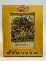 Disney Animal Kingdom Wood Frame 5x7 Portrait Glass Animals - $22.76