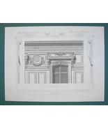 ARCHITECTURE PRINT : PARIS Mansion on Boulevard Monceaux Partial Facade - $16.87