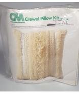 MCM Crewel Pillow craft Kit Retro Boho shag Embroidery home decor - $55.36