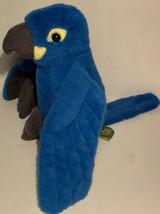 "Wild Republic Blue Parrot Macaw Plush 6"" Hyacinth Stuffed Animal Realistic Bird - $12.99"