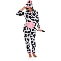 CUTE NEW WOMENS PLUS SIZE 2X ADULT ONE PIECE COW COSTUME UNION SUIT PAJA... - $20.55