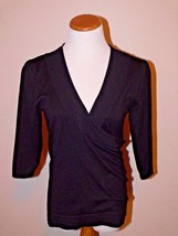 MAURICES Cross Over Black Top Shirt Women Size M  New - $15.99