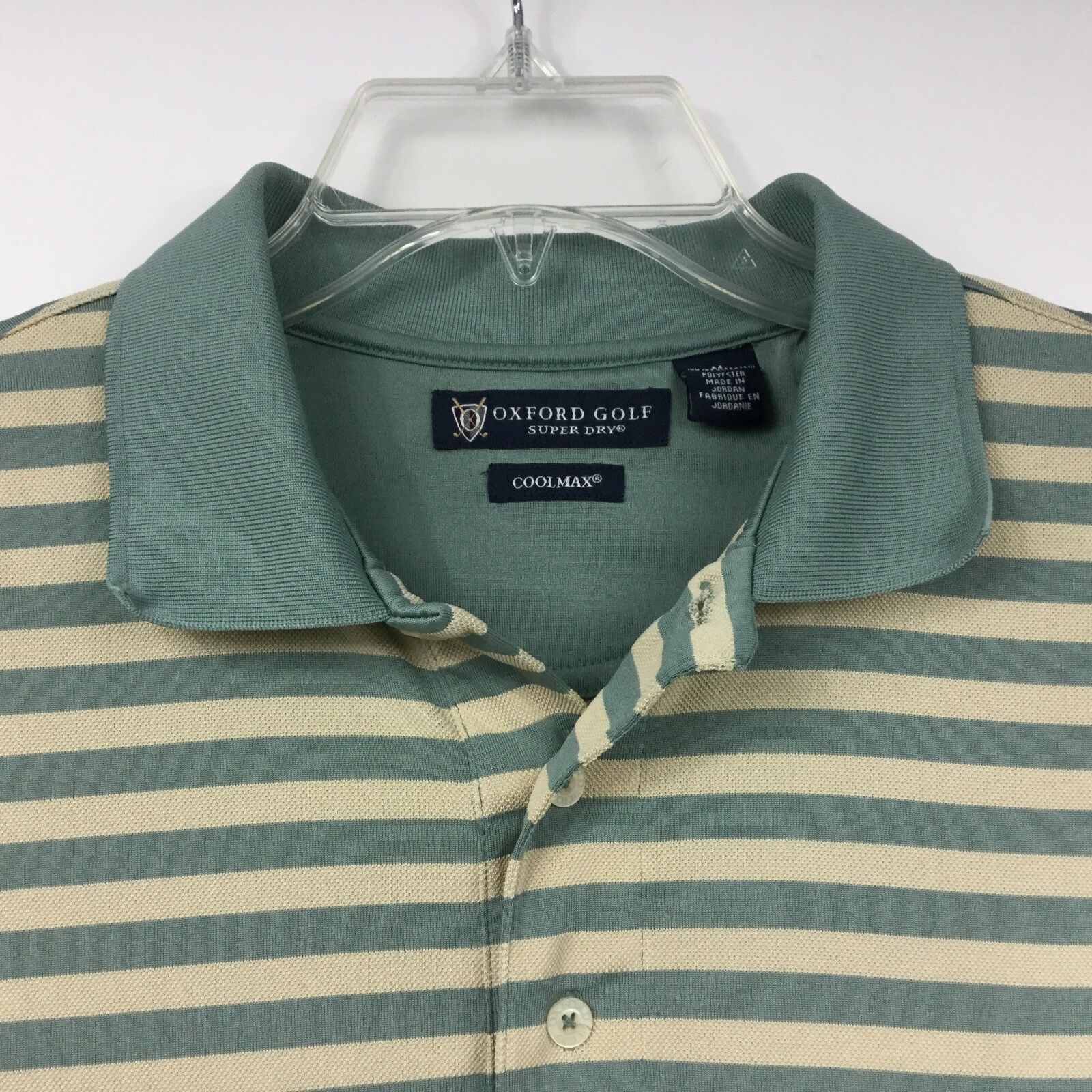 Oxford Golf Mens Shirt Cool Max Polo Style Short Sleeve Super Dry Size M  image 3