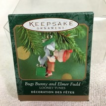 2000 Bugs Bunny Elmer Fudd Mini Hallmark Christmas Tree Ornament MIB Pri... - $12.38