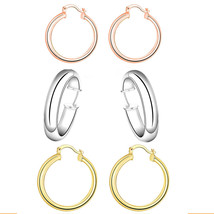 Eternity Gold Essential Hoop Earrings in 18K Gold - $11.99