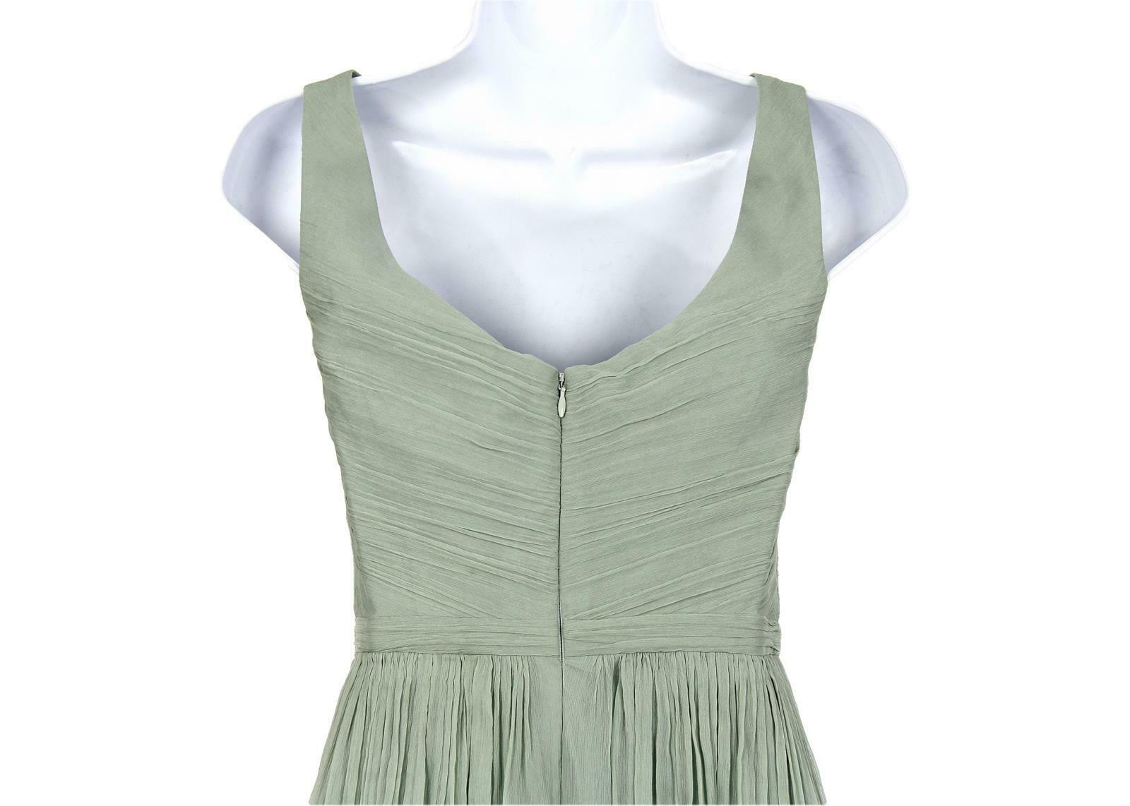 J Crew Women's Heidi Long Dress in Silk Chiffon Dusty Shale Sz 6 93075 image 5