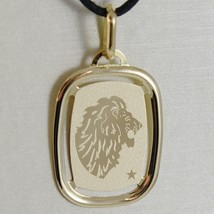 SOLID 18K YELLOW GOLD LEO ZODIAC SIGN MEDAL PENDANT, ZODIACAL, MADE IN ITALY image 1