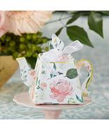 Kate Aspen Brunch Floral Teapot (Set of 24) Favor Box, Perfect for Tea P... - $21.83
