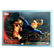WWE Evan Bourne 2010 Topps Card #57 Blue Serial Numbered Parallel  - $1.93