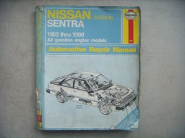 Nissan Sentra,  Haynes Repair Manual, Service Guide 1982-1990. Book - $9.41