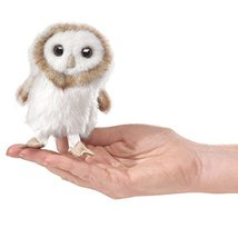Folkmanis Mini Barn Owl Finger Puppet - $14.00