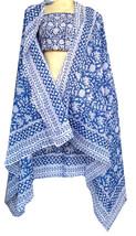 "Long  73 x 44"" Hand Block Print 100% Cotton Sarong Women Swimsuit Wrap C... - $17.72"
