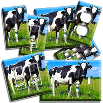 HOLSTEIN COW PASTURE LIGHT SWITCH OUTLET WALL PLATES COUNTRY HOME ROOM A... - $10.99+
