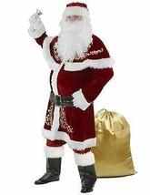 Halfjuly Men?s Santa Costume Set Christmas 12pcs Deluxe Velvet Adult   (... - $145.52