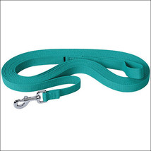 Turquoise Weaver Tack Horse Flat Cotton Lunge Line With Nickel Plated 22... - $23.71