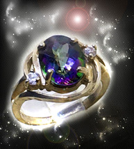 Haunted Ring The Queen Witch's Call Forth Or Send Away Ooak Magick Magickal - $9,107.77