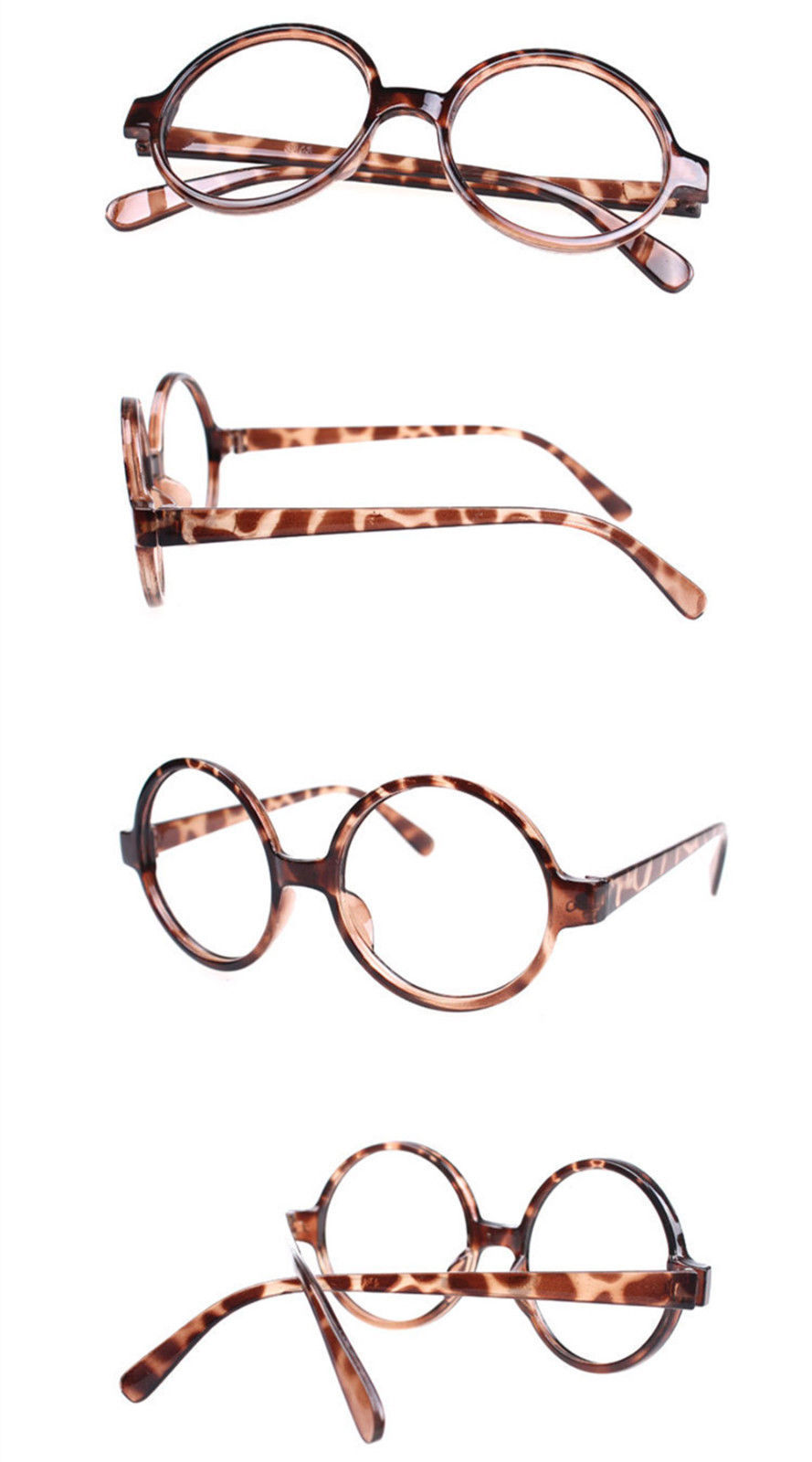 Classic Vintage Round Wizard Costume Nerdy Glasses Frames NO LENS Spectacle Wear image 6