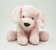 BABY GUND SPUNKY PINK & WHITE PUPPY DOG # 058374 STUFFED ANIMAL PLUSH TO... - $23.38