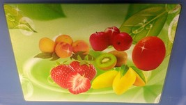 """Cutting Board, Glass, Rectangle, Fruits Approx. 14"""" X 10' - $11.87"""