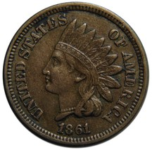 1861 One Cent Indian Head Penny Coin Lot# EA 337