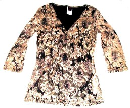 Sz S/M - NWOT Wrapper White & Black Lace w/3/4 Sleeves Blouse - $25.64