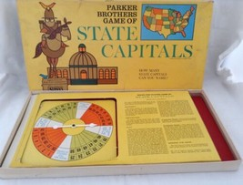 Vtg 1966 Parker Brothers State Capitals Board Game All 50 States Complete - $19.74
